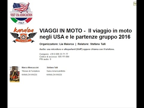 Video VIAGGI IN MOTO Il viaggio in moto negli USA e le partenze gruppo 2016 (26/5/2015)