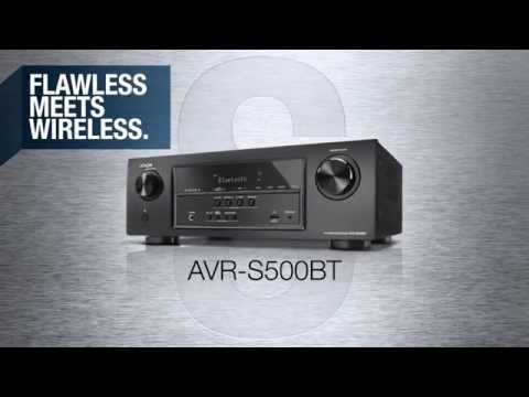 Flawless Meets Wireless with the Denon AVR-S500BT A/V Receiver, equipped with the latest HDMI 2.0