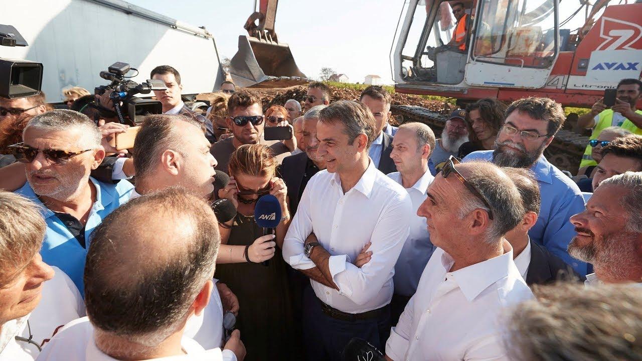 Επίσκεψη του Πρωθυπουργού Κυριάκου Μητσοτάκη στο Μάτι