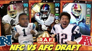 WE DO THE AFC VS NFC DRAFT WHERE I DRAFT ALL NFC AND DRE DRAFTS ALL AFCMY LIVESTREAM CHANNEL:https://www.twitch.tv/kaykayesDRE'S CHANNEL:https://www.youtube.com/channel/UCsBAxbLb2mixfuU6IYE__GALike, comment, SUBSCRIBE!FOLLOW MY LIFE HERE:https://www.twitter.com/KayKayEssshttps://www.instagram.com/KayKayEs