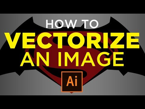 How To Vectorize An Image In Adobe Illustrator Tutorial