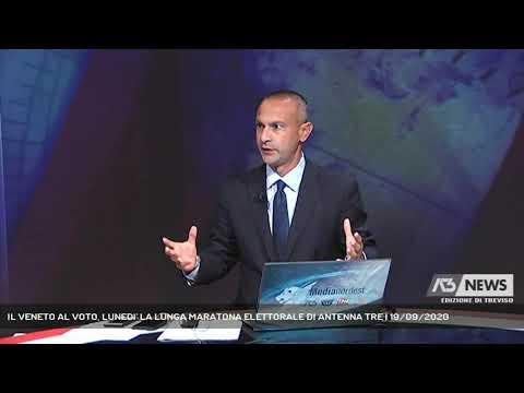 IL VENETO AL VOTO, LUNEDI' LA LUNGA MARATONA ELETTORALE DI ANTENNA TRE | 19/09/2020