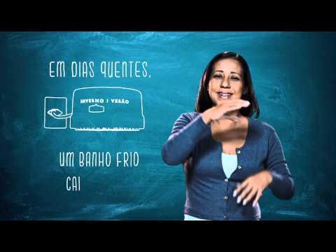 Campanha de Uso Racional de Energia - Libras - Chuveiro - Eletrobras Distribuição Rondônia
