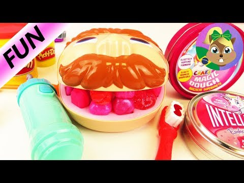 Play Doh Dr. Dentista com dente de unicórnio de massinha inteligente - dente de massinha