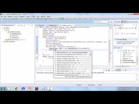 Learn How to Create a TextEditor with Java - File Browser