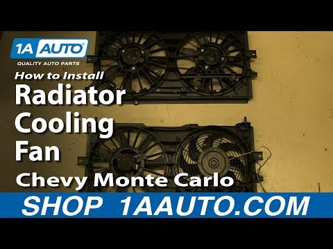 How To Install Replace Radiator Cooling Fan 2000-03 Chevy Monte Carlo