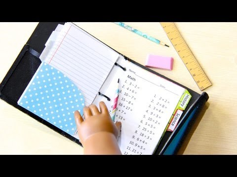 How to Make a Doll School Binder