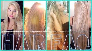 ♔ How is your hair so long? ♔ | FAQ - Cut, Color, Length, etc. - YouTube