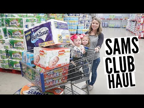 SHOP WITH ME | SAMS CLUB HAUL | STOCKING UP ON ESSENTIALS
