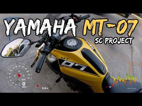 ลองขี่ Yamaha MT07 ท่อ SC-Project กล้วยหอมจอมซน