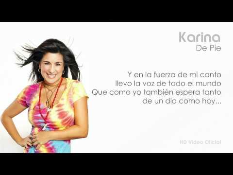 Tekst piosenki Karina - De Pie po polsku