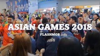 Video VIRAL UYYY! [FLASHMOB ASIAN GAMES 2018] 'Meraih Bintang' Via Vallen - Bandara SMB II PALEMBANG MP3, 3GP, MP4, WEBM, AVI, FLV Oktober 2018
