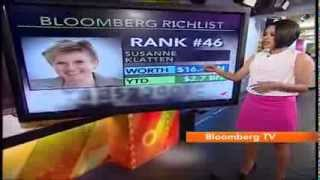 Bloomberg TV India puts the spotlight on BMW Heiress Susanne Klatten. She is ranked 46 on the Bloomberg Richlist and is worth ...