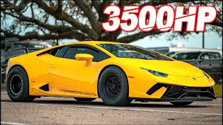 3500HP Lambo SCREAMS 10,000RPM to 236MPH! (Drag Huracan Insane G-Force) by  That Racing Channel