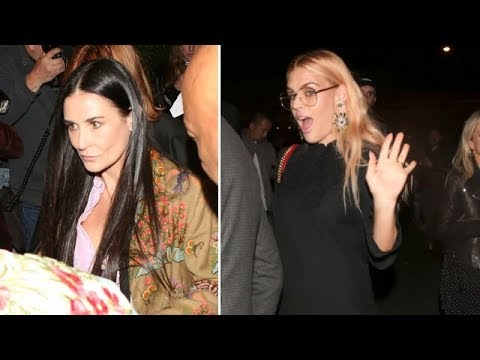 Demi Moore And Her Daughters Attend Private Gucci Party With Busy Philipps