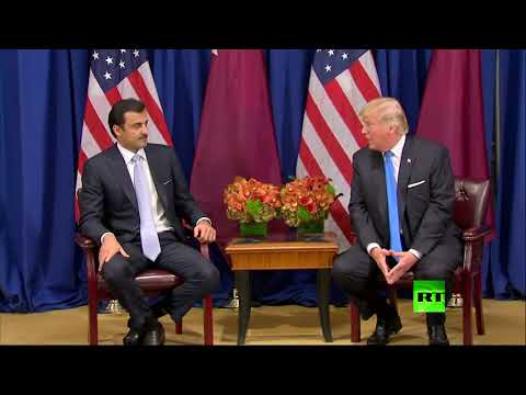 العرب اليوم - شاهد: سوء فهم بين دونالد ترامب وتميم بن حمد آل ثاني