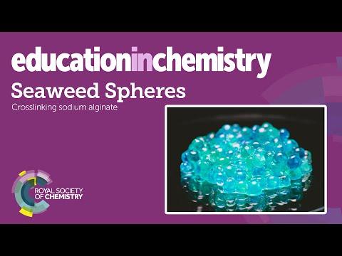 Seaweed spheres – cross-linking sodium alginate gels