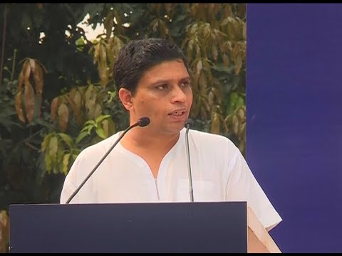 Acharya Balkrishna Addressing Rally for Rivers, Haridwar