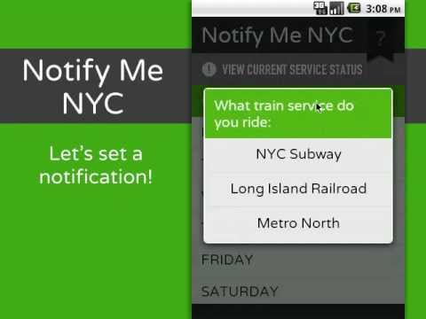 Video of Notify Me NYC