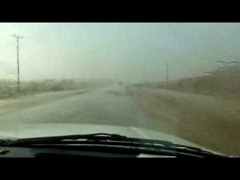 مطر غزير على مركز البير التابع لمحافظة ثادق