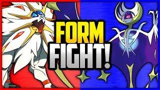 Solgaleo vs Lunala | Pokémon Form Fight by Ace Trainer Liam