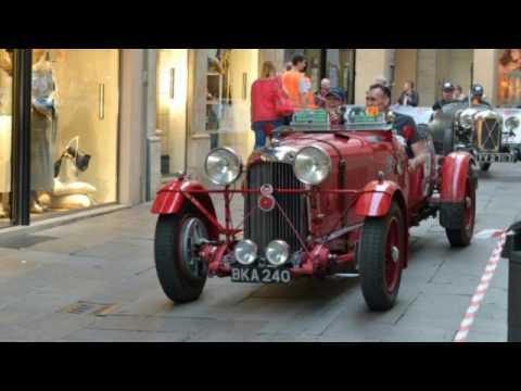 mille miglia storica a vicenza - guardate che vetture!