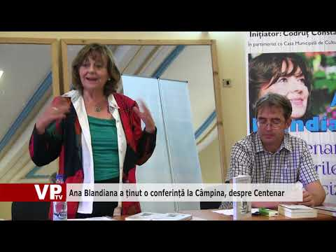 Ana Blandiana a ținut o conferință la Câmpina, despre Centenar