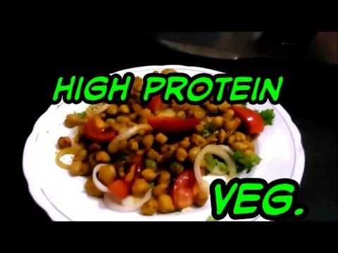 High protein indian bodybuilding meal (vegetarian)