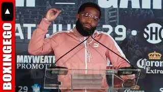 ADRIEN BRONER SPOKE AT TODAY'S NYC BRONER VS GARCIA SHOWTIME BOXING PRESS CONFERENCE HE WARNS...