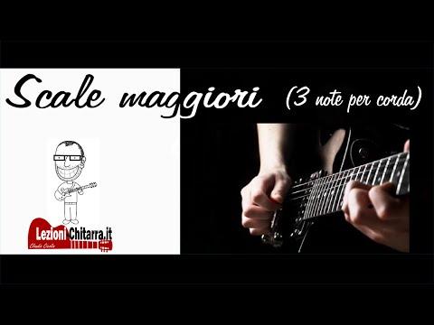 SCALE MAGGIORI 3 NOTE PER CORDA - LEZIONE DI CHITARRA - TUTORIAL - CLAUDIO CICOLIN