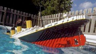 Video Sinking LEGO Titanic [7 foot model] MP3, 3GP, MP4, WEBM, AVI, FLV Juni 2018