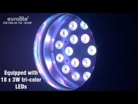 EUROLITE LED PAR-64 TCL 18x3W
