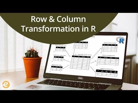 R Programming | Transforming Rows & Columns in Dataframe | Eduonix
