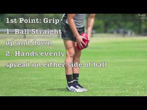 How To Correctly Kick An AFL Ball