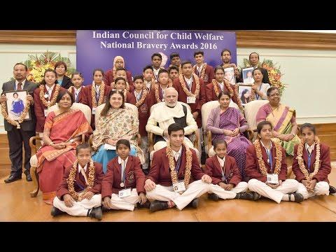 PM presents prestigious National Bravery Awards to 25 Children