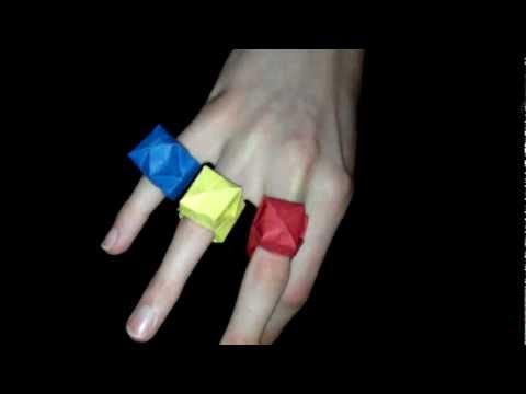 Origami Ring: Faltanleitung Papierschmuck [HD]
