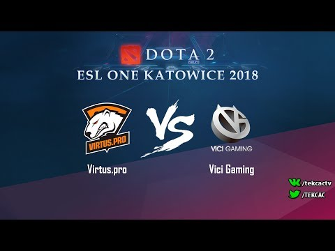 [RU] Virtus.pro vs Vici Gaming | Bo3 | ESL One Katowice 2018 by @Tekcac (видео)