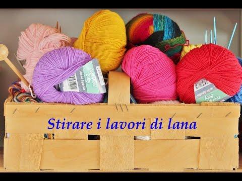 Lavori di lana che si arricciano. Stirare la lana - il mio sistema