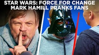 Mark Hamill channels Luke Skywalker and Darth Vader to surprise Star Wars fans and announce that he's offering a BONUS experience: attend a pre-screening ...