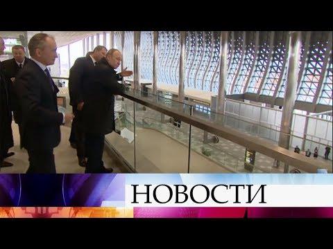 Важный пункт в программе президента - инспекция нового терминала аэропорта в Симферополе. - DomaVideo.Ru