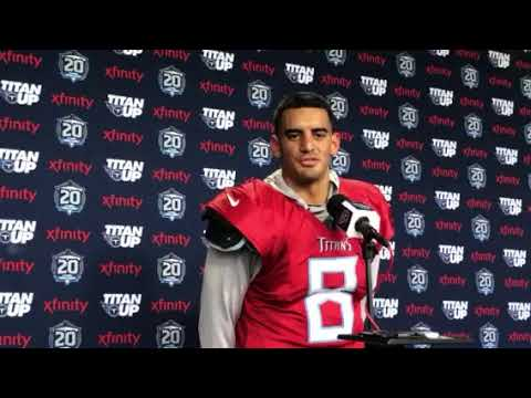 Marcus Mariota settling into Titans' new offense