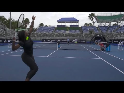 Tennis Trick Shots With Serena Williams