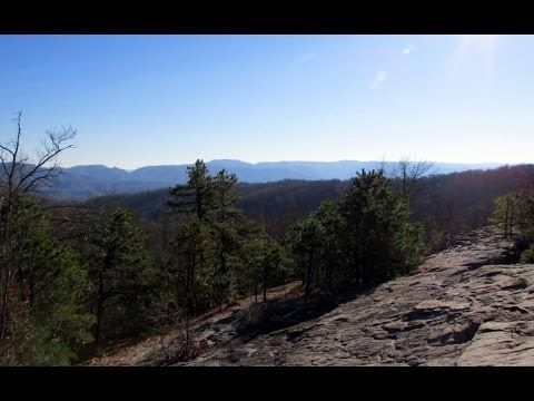 Hiking Pine Mountain Scenic Trail, Highlands Section in Letcher County, Kentucky (видео)