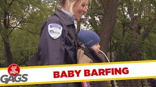 General Funny Pranks - Cop's baby barfing prank