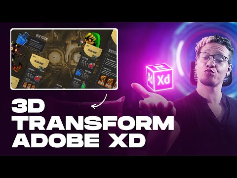 3D Transform Adobe XD (Tutorial) -  NEW 2020 Updates!