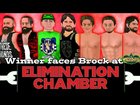 Wwe elimination chamber 2018-Roman Reigns vs Cena vs miz vs braun vs Rollins vs balor vs Elias-Wr3d