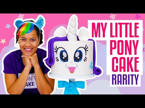 How To Make A FABULOUS My Little Pony RARITY UNICORN Funfetti CAKE | Yolanda Gampp | How To Cake It (видео)