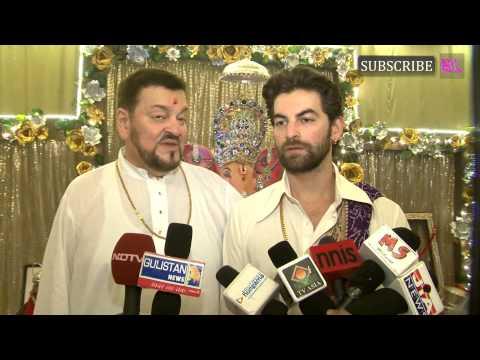 Ganpati Celebration With Neil Nitin Mukesh & Famil