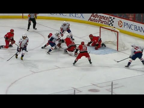 Video: Capitals' Eller puts home rebound after mayhem in front of Hurricanes' net
