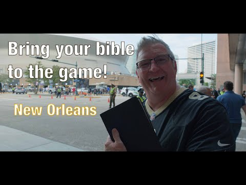 VLOG - Jim Daly Travels to New Orleans to Support Drew Brees at the Saints Game - Bring Your Bible